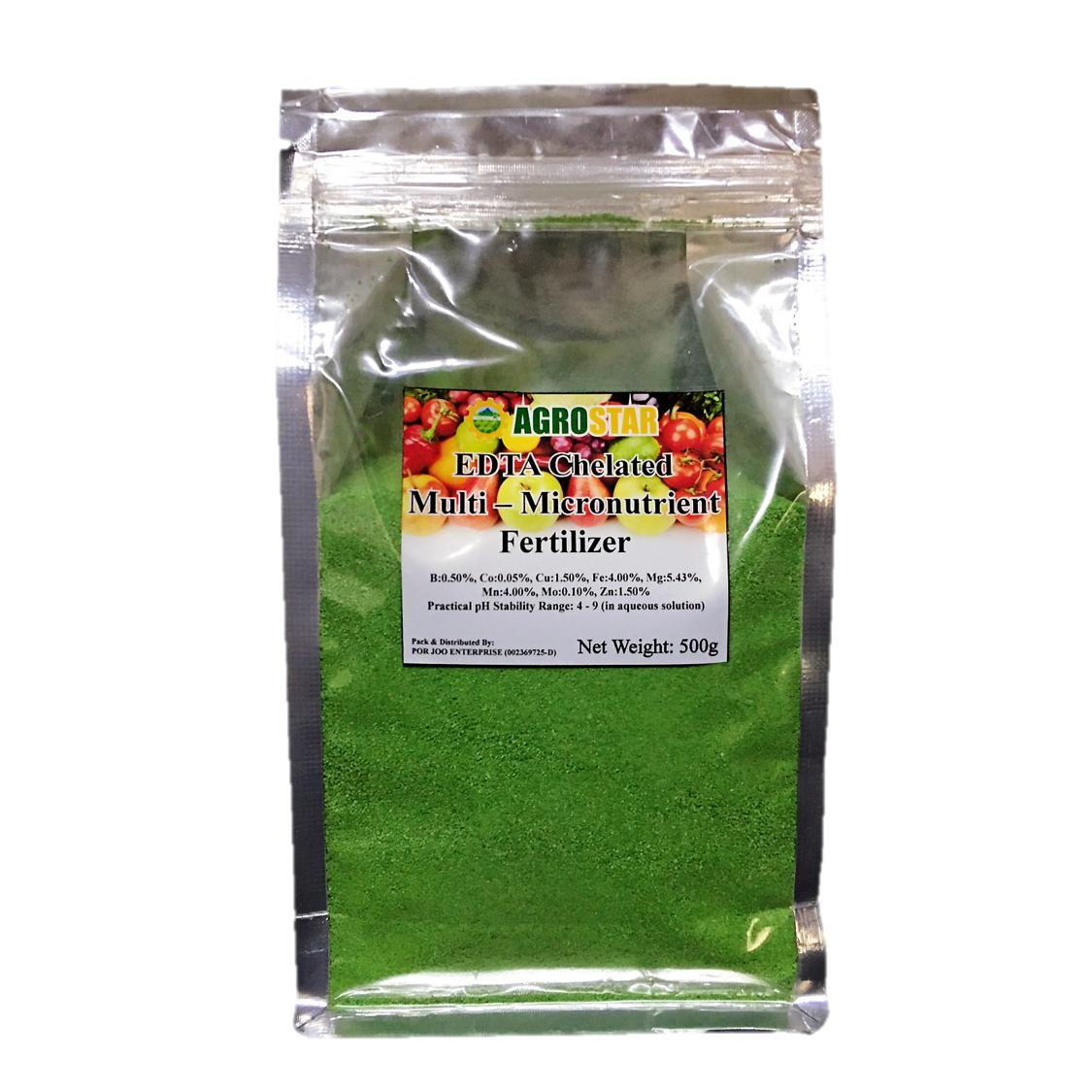 EDTA Chelated Multi – Micronutrient (Trace Element) Fertilizer for Vegetables, Flowers, Fruits & All ornamentals  500GM (Green)