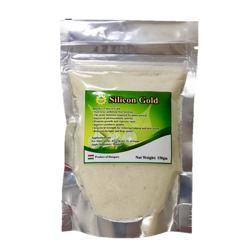 Silicon Gold (100% Water Soluble Silicon Powder) suitable for Vegetables, Fruits & All ornamentals to improve fungal and diseases resistance 150GM