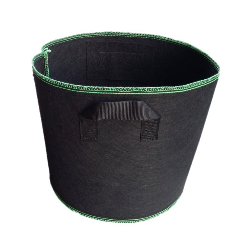 Eco Planting Pot suitable for soil & soil-less gardens with green stitching (7 Gallon)