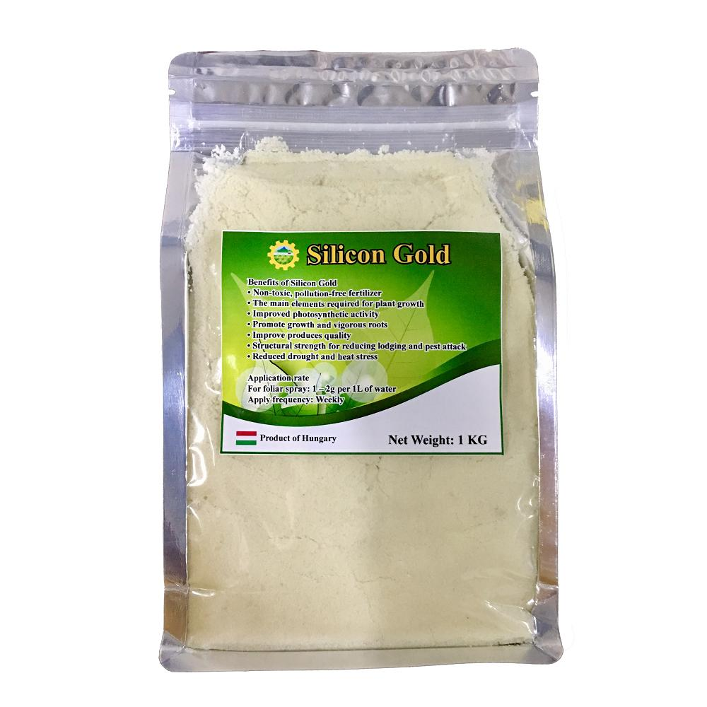 Silicon Gold (100% Water Soluble Silicon Powder) suitable for Vegetables, Fruits & All ornamentals to improve fungal and diseases resistance 1KG